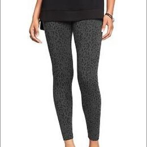 Old Navy Leopard Print Black and Gray Leggings